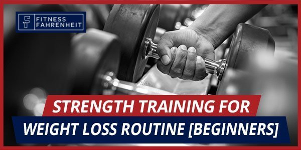 strength training for weight loss routine banner