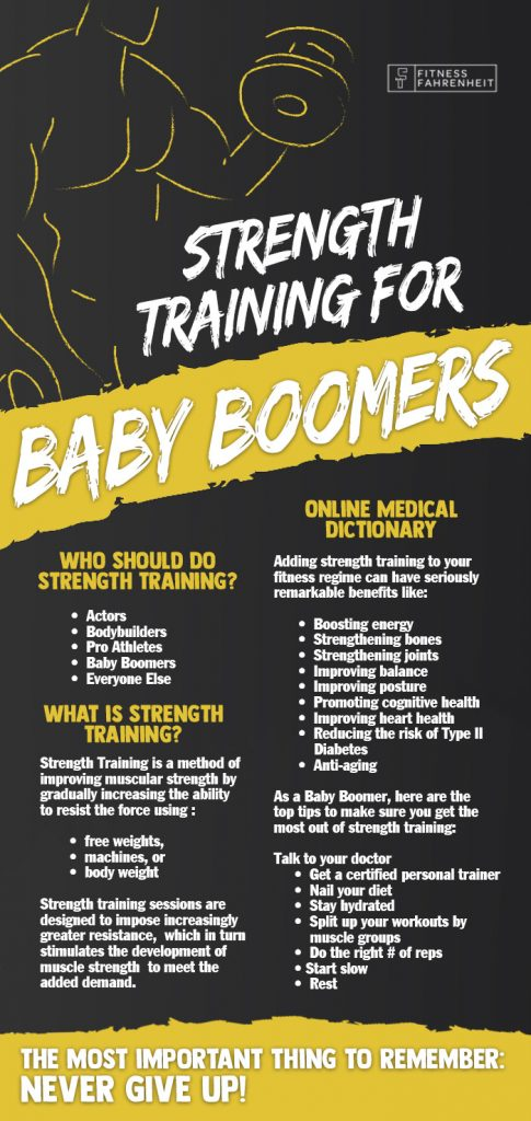 Baby Boomer Fitness Infographic