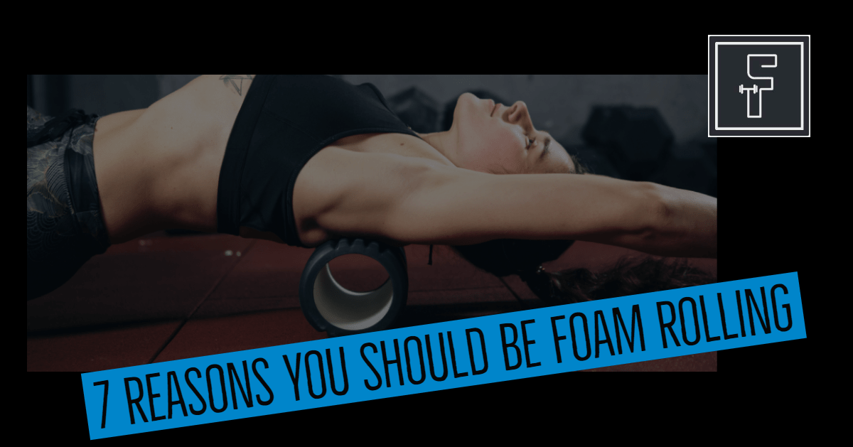 Foam Rolling Benefits - Picture of woman stretch on foam roller